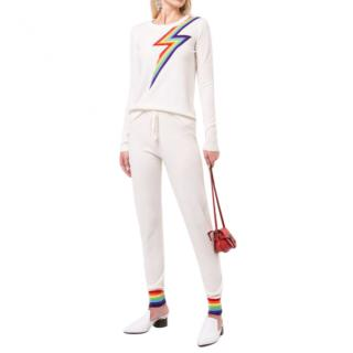 Madeleine Thompson Ivory Bebe Rainbow Cashmere Sweater
