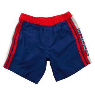 Gucci Boys Blue Cotton Logo Shorts