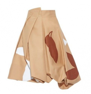JONATHAN SAUNDERS Francis flower-appliqu� wool-twill skirt