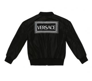 VERSACE KIDS Logo bomber jacket