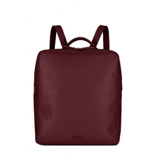 Been London Red Wine Recycled Leather Islington Backpack