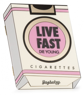 Yazbukey Live Fast Cigarette Box Clutch