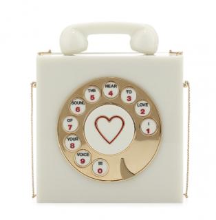 Charlotte Olympia Vanilla Chatterbox Phone Box Clutch