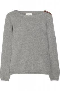 Chinti & Parker Grey Heart Detail Cashmere Jumper