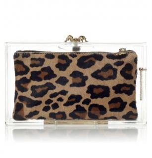 Charlotte Olympia Leopard Pandora Clutch
