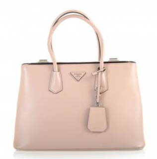 Prada Pale Pink Saffiano Leather Twin Tote Bag
