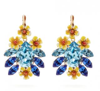Dolce & Gabbana Floral crystal earrings