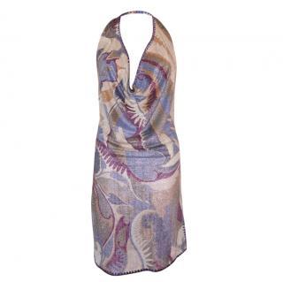 Missoni Mare Metallic Halterneck Mini Dress