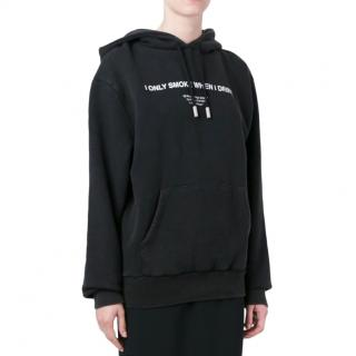 """Off-White """"i Only Smoke When I Drink"""" Hoodie"""