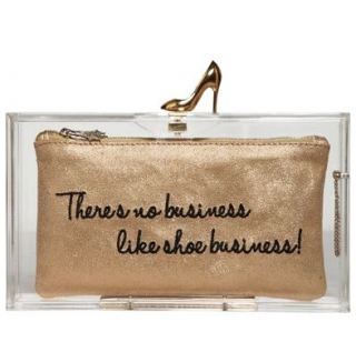 Charlotte Olympia Pandora Loves Shoes Box Clutch