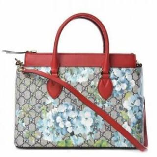 Gucci GG Supreme Monogram Blooms Print Tote Bag