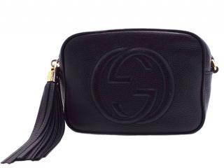 Gucci Black Textured Leather Soho Disco Bag