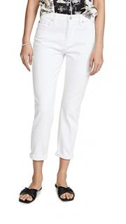 7 For All Mankind White Cropped Jeans