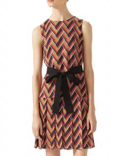 Gucci Multicoloured Chevron Printed Sleeveless Dress