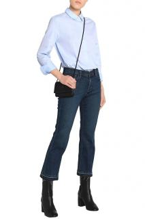 J Brand Blue Cropped Bootleg Jeans