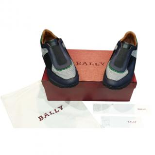 Bally Two-Tone Leather & Mesh Trainers