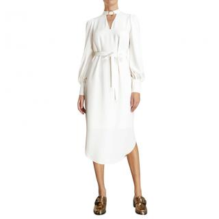 Zimmermann Ivory Buckle Collar Midi Dress