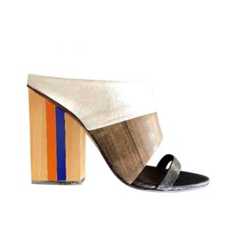 Tory Buch Colourblock Mules