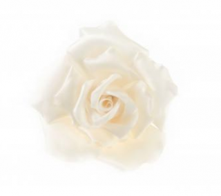 Chanel Ivory Silk Camellia Pin Brooch