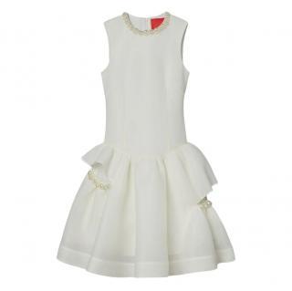 Simone Rocha x H&M White Faux Pearl Embellished Paris Dress