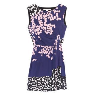 DVF Blue Silk Crepe Tamara Dress