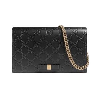 Gucci Black Leather Signature Mini Bag