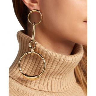 Chloe Gold Tone Bijou Chain Link Earrings