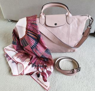 Longchamp Red Masai Inspired Silk Scarf