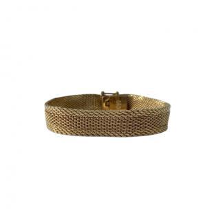 Dior Gold Plated Mesh Vintage Bracelet