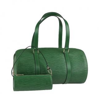 Louis Vuitton Borneo Green Epi Leather Soufflot Bag