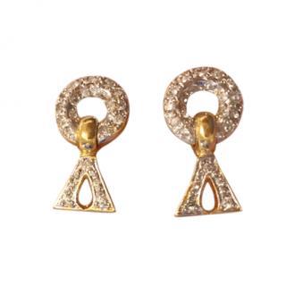 Valentino Vintage Crystal Earrings