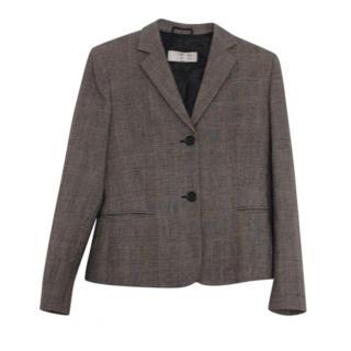 Max Mara Brown Wool Tailored Blazer