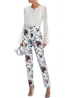 DVF White & Blue Floral Print Jeans
