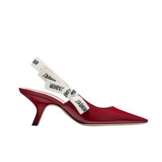 Dior Burgundy Patent Leather J'adior Slingbacks