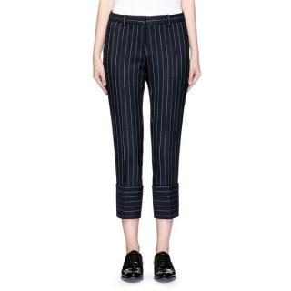 Victoria Victoria Beckham Navy Pinstripe Pants