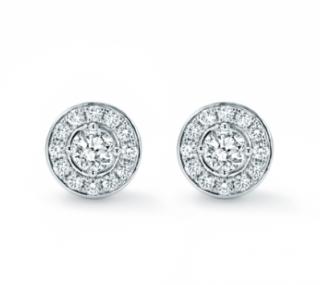 Mappin & Webb 18ct White Gold Fonteyn Diamond Halo Earrings