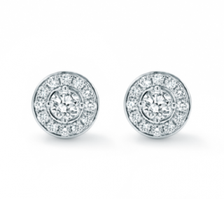 Mappin & Webb 18ct White Gold Fonteyn Diamond Halo Earrings