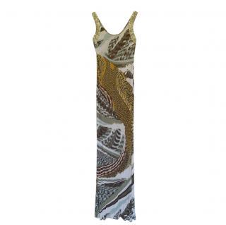 Emilio Pucci Multicoloured Printed Sleeveless Column Dress