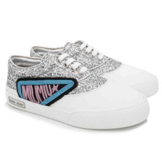 Miu Miu White Glitter 1 Sneakers