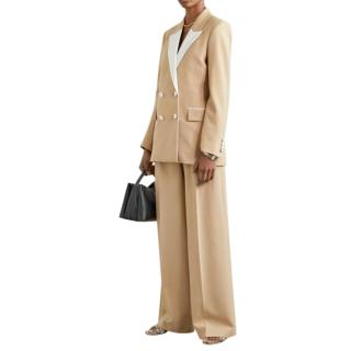Racil Beige Double Breasted Jacket & Wide Leg Pants