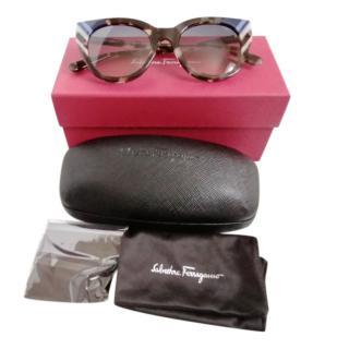 Ferragamo Havana Cat-Eye Sunglasses