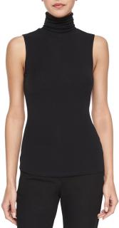Theory Black Sleeveless Rollneck Wendel Top