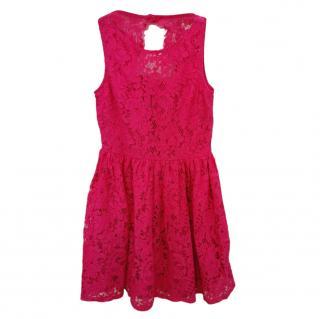 Polo Ralph Lauren Kids 7Y Pink Lace Dress
