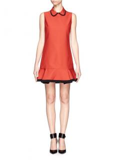 Victoria Victoria Beckham Rust Collared Mini Dress