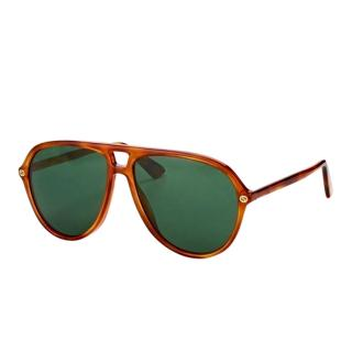 Gucci Brown Havana Aviator Sunglasses