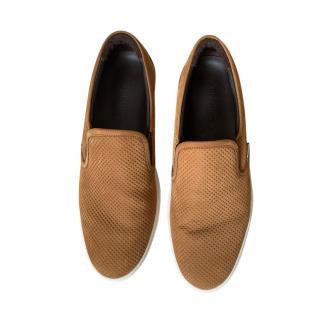 Jimmy Choo Mens Suede Tan Loafers