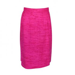 Yves Saint Laurent Vintage Pink Boucle Skirt