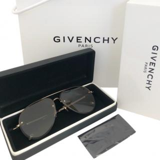 Givenchy Gold/Grey Aviator Sunglasses