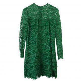 Ermanno Scervino Green Lace Shift Dress