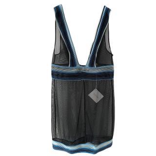 La Perla Navy Sheer Silk Nightgown